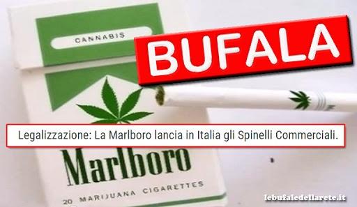 Legalizzazione: La Marlboro lancia in Italia gli Spinelli Commerciali.